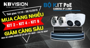 BỘ KIT POE CAMERA IP KBVISION 2.0 MEGAPIXEL